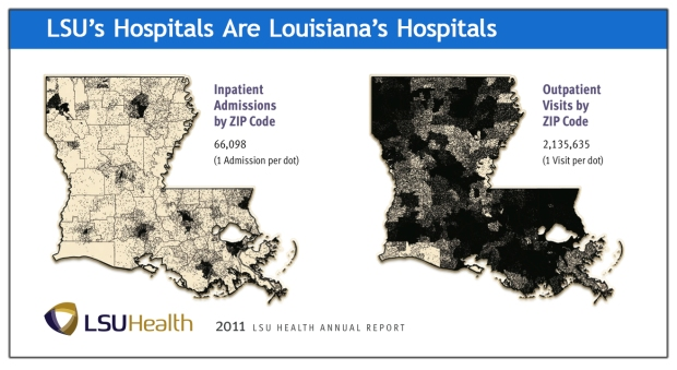 Click the image to download the 2011 LSU Health Annual Report