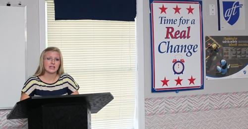 Julie Jackson, student at the University of Louisiana at Monroe (ULM)